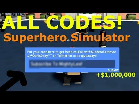 Robloxsuperhero Simulator Code Youtube All Working Superhero Simulator Codes April Roblox Youtube
