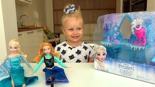 Холодное Сердце Туалетный столик для кукол Frozen set of accessories for dolls Anna Elsa Olaf Sven