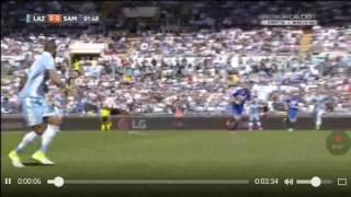 Lazio - Sampdoria  7 - 3 sintesi Hd fazioso Lazio/De Angelis si gode la sua Lazio europea