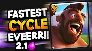 FASTEST Hog Cycle EVER?! 2.1 Elixir Deck is INSANE!