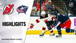 NHL Highlights | Devils @ Blue Jackets 1/18/20