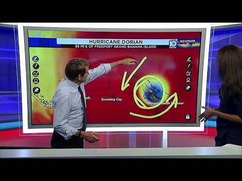5 PM Advisory issued for Hurricane Dorian - Sunday, Sept. 1