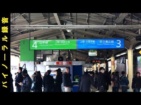【音風景 臨場感】東京駅 3・4番線 (山手線・京浜東北線ホーム) 音風景 バイノーラル録音