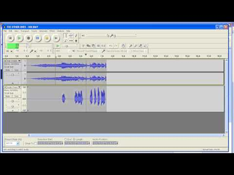 How to reduce volume on one track in Audacity