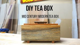 DIY Tea Box / Mid Century Modern Tea Box Video
