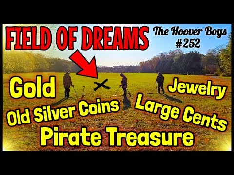 Metal Detecting FIELD OF DREAMS!! Found Gold, Pirate Treasure, Old Silver & Stunning Coins