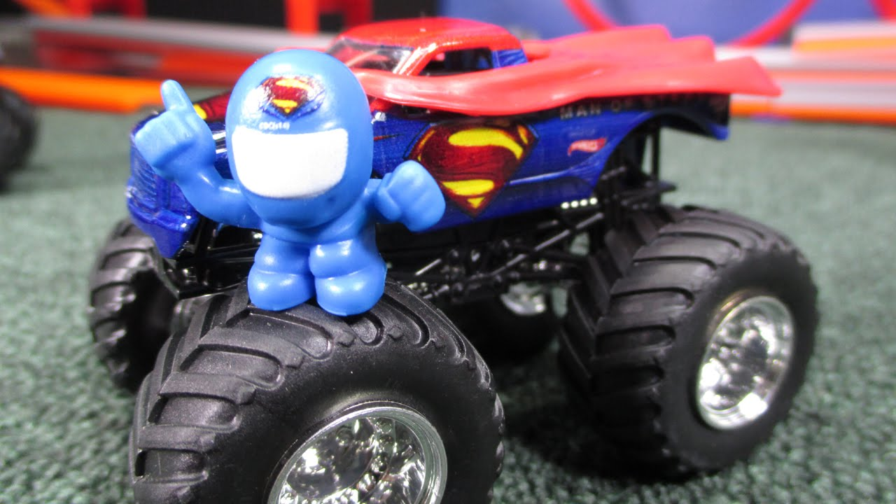 Man Of Steel Superman Hot Wheels Monster Jam Truck Unboxing And Review New Casting Changes Youtube