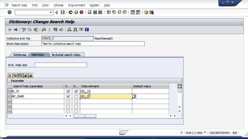 Add a f4 Search help to standard program screen-field - SAP