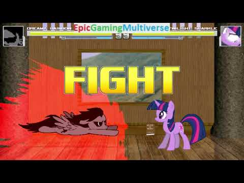 Twilight Sparkle VS Dreamy Rainbow On The Hardest Difficulty In A MUGEN Match / Battle / Fight