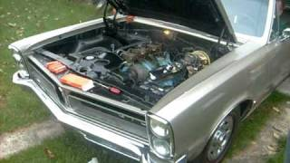 Pontiac GTO 1965 START UP mine and dads ole beater lol