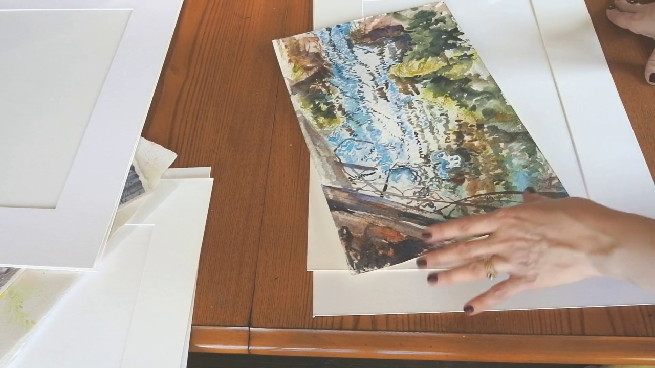 framing a watercolour painting how to cut mats and assemble a chop frame