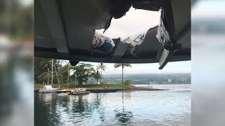 Lava bomb hits Hawaii tour boat, injures 23