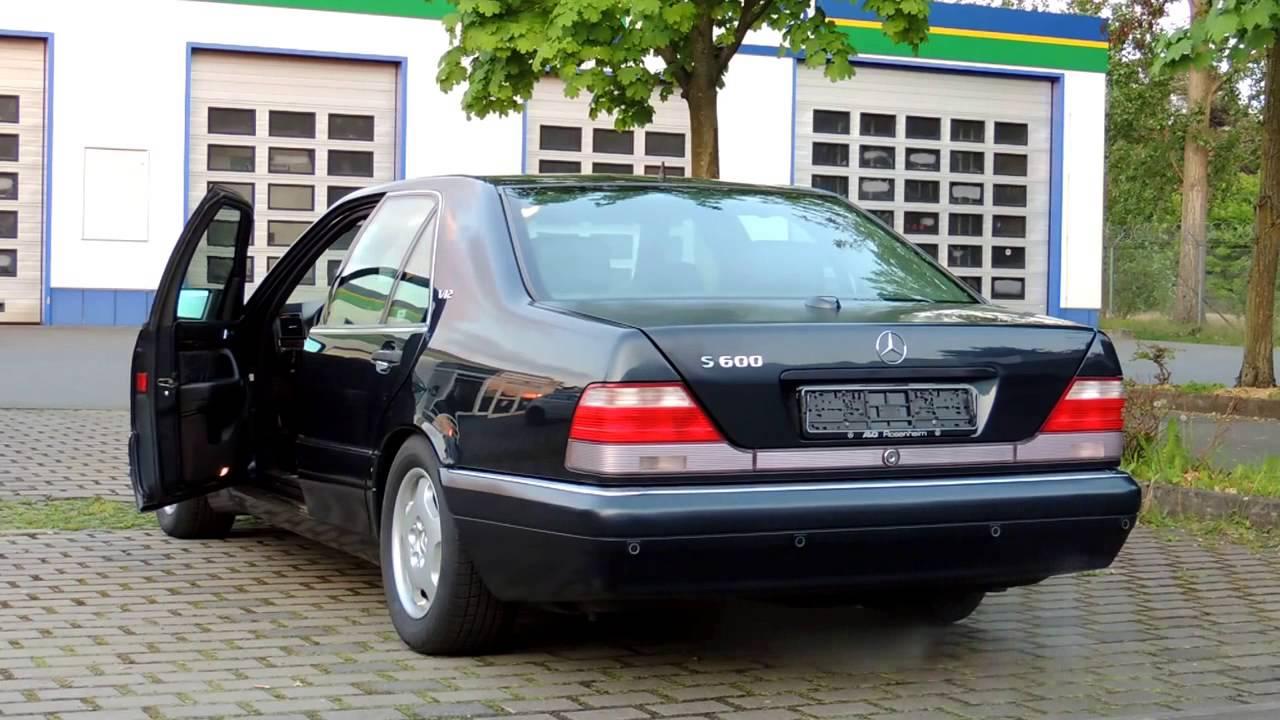 Mercedes S600 V12 W140 Sound Youtube