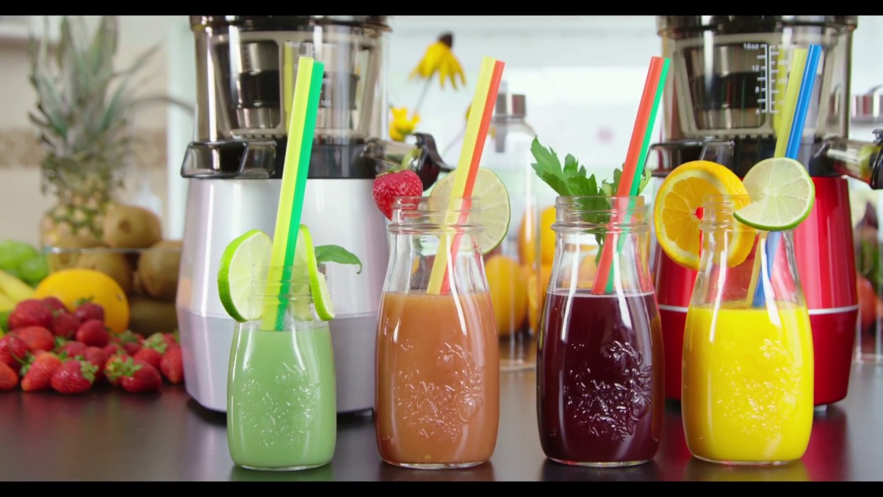 byzoo zebra whole slow juicer - YouTube