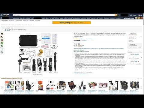 Amazon Review | Kosin | 18 in 1 Emergency Survival Kit