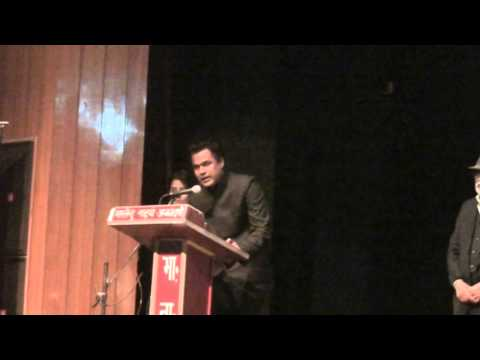 RJ Zeeshan receives an Award in SAIFF 2013 for the film Katwe-The Other People.