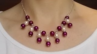 DIY Jewelry Making - How to Make an Easy & Beautiful Chain Beading Necklace + Tutorial .