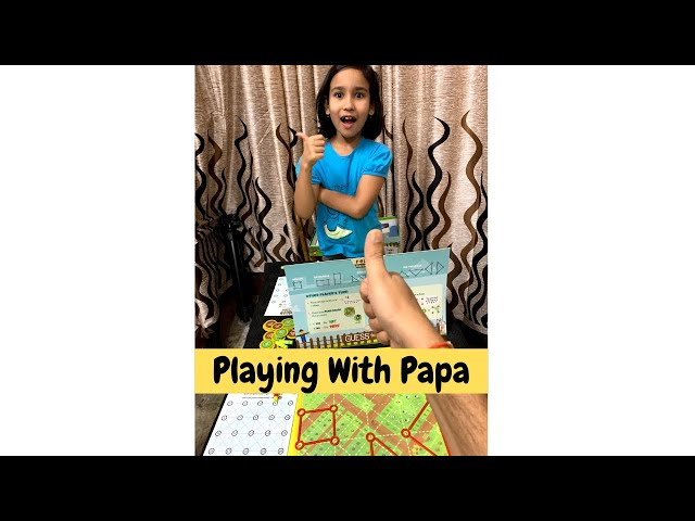 Papa vs Beti / Who will win ? / How to Play Guess the Fence ? @Learn With Pari