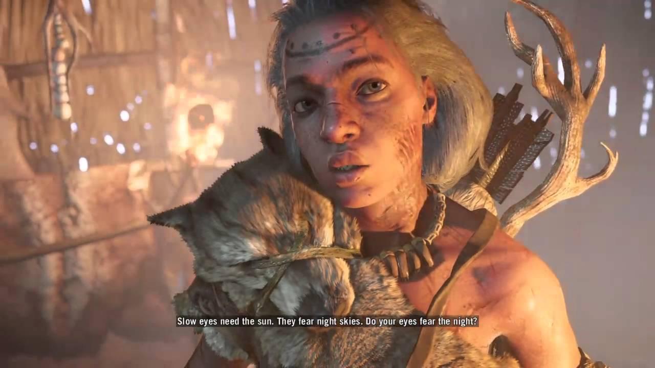Far Cry Primal Jayma Talks Takkar Shows Her His Hunter S Eye Hd Youtube