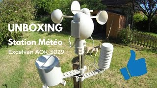 STATION METEO PRO EXCELVAN AOK-5029, SIMPLE MAIS EFFICACE