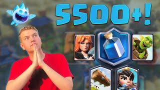MASTER 3! 5,500+ Log Bait Valkyrie LIVE Ladder Gameplay - Clash Royale