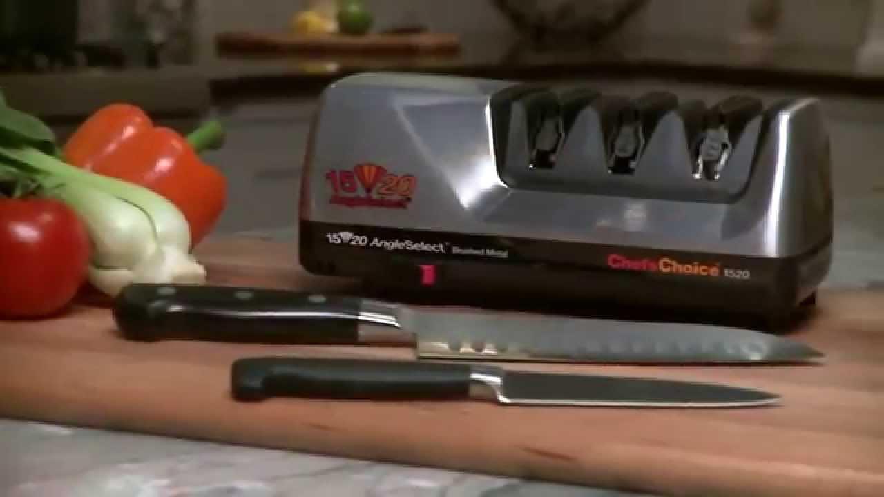chef 39 s choice model 1520 angleselect diamond hone knife sharpener youtube. Black Bedroom Furniture Sets. Home Design Ideas