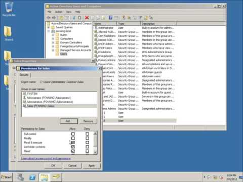 12   Creating Security Groups in Active Directory