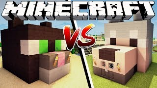 CAT HOUSE VS DOG HOUSE - Minecraft