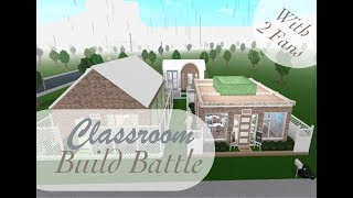 BLOXBURG | Roblox | Classroom Build Battle With 2 Lucky People!!