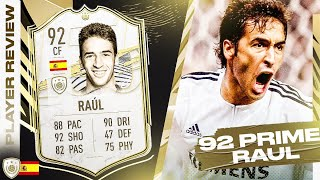 KING RAUL! 92 PRIME ICON RAUL REVIEW! FIFA 21 Ultimate Team