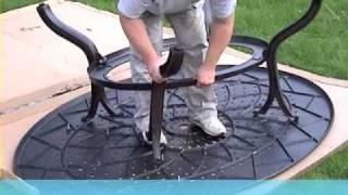 Lazy Susan Garden Furniture - How To Build Gloria 8 Seater Oval Garden Table