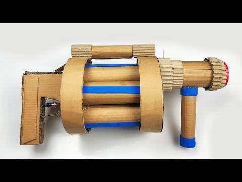 DIY Cardboard Gun! - How to Make Fortnite Grenade Launcher (Batman DIY Projects)