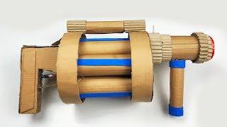 DIY Cardboard Gun! - How to Make Fortnite Grenade Launcher (Batman DIY Projects)