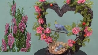 DIY,Como fazer arranjo Primavera com miçangas,How to make spring arrangement with beads