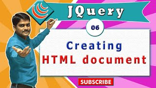 jQuery video tutorial 06 - Creating HTML5 document