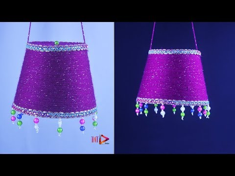 Easy DIY Woolen Ceiling Hanging | DIY Woolen Jhumar Crystal Chandelier | Home Decoration Craft Ideas