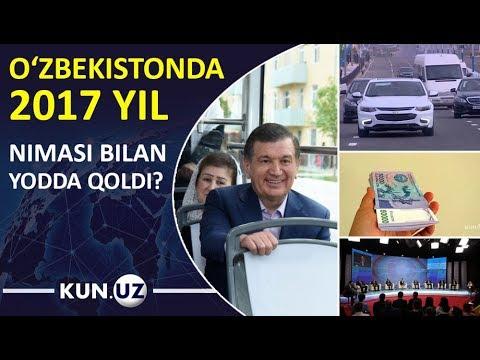 O'ZBEKISTONDA 2017 YIL YUZ BERGAN ENG MUHIM HODISALAR