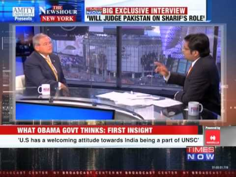The Newshour Direct from New York: US Senator Bob Menendez talks to Arnab Goswami (27th Sept 2014)