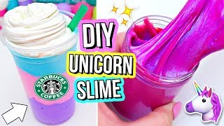 3 DIY UNICORN SLIMES! How To Make THE BEST Magical Unicorn Slime! D...