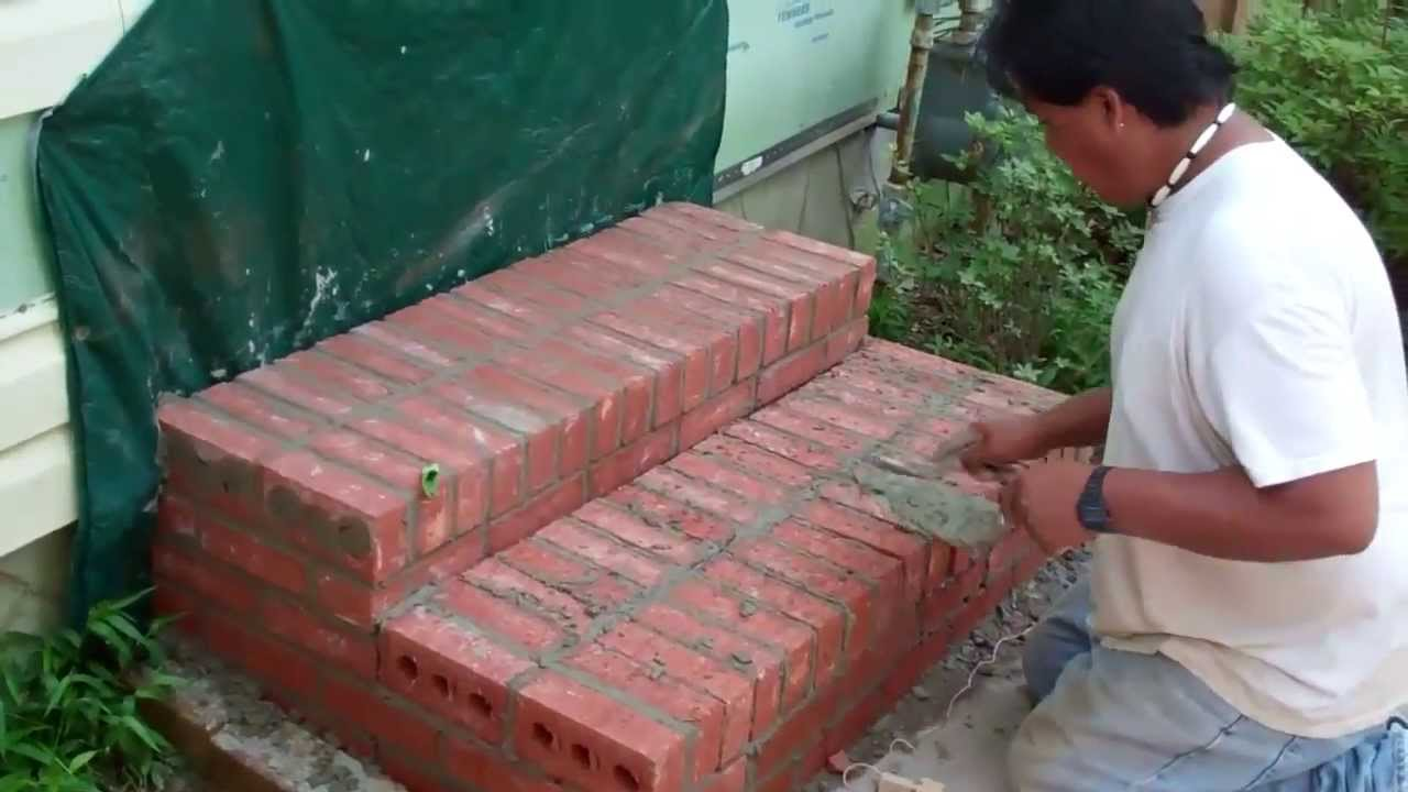 Constructing Brick Steps And Installing