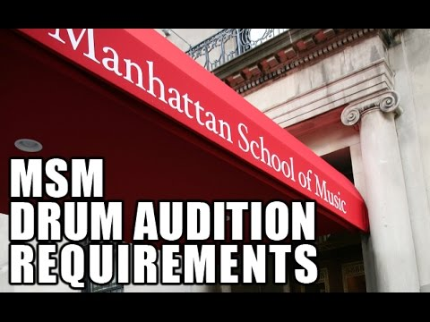 8020 Drummer - MSM Drum Audition Requirements 2014