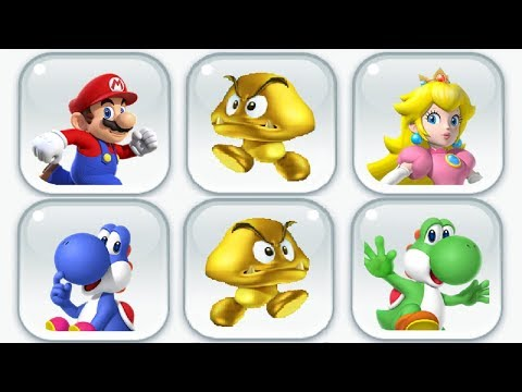 Super Mario Run - Gold Goomba Event Completed (All Characters)