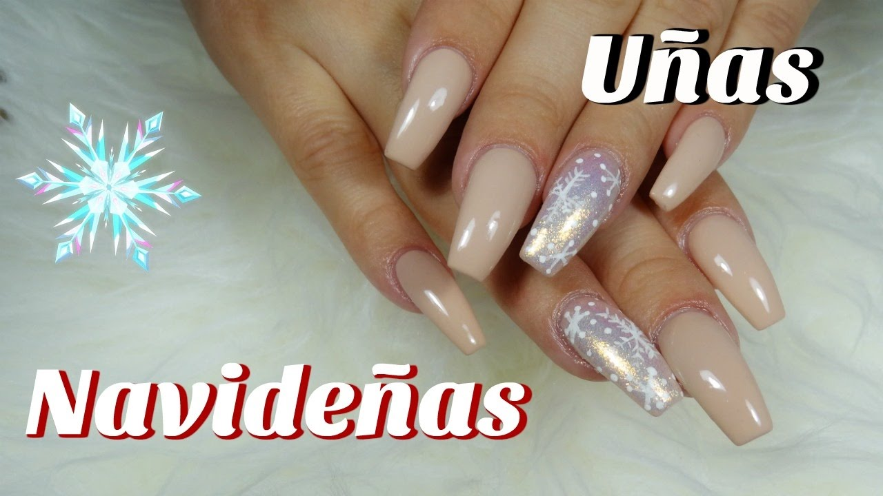 U as acrilicas u as navide as esmalte en gel decoracion - Decoracion de unas gel ...