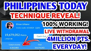 PHILIPPINES TODAY APP - TECHNIQUE REVEAL 4-MILLION POINTS EVERYDAY 100% WORKING + LIVE WITHDRAWAL! screenshot 2