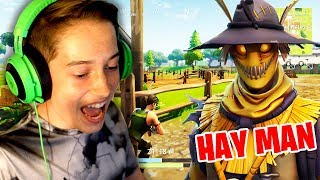 *NEW* Fortnite HAY MAN SKIN GAMEPLAY! (Fortnite Battle Royale Stream)