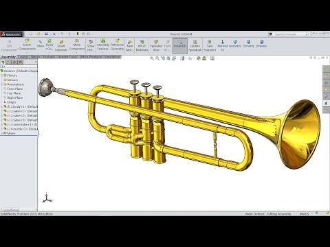 Solidworks tutorial   Sketch Trumpet in SolidWorks