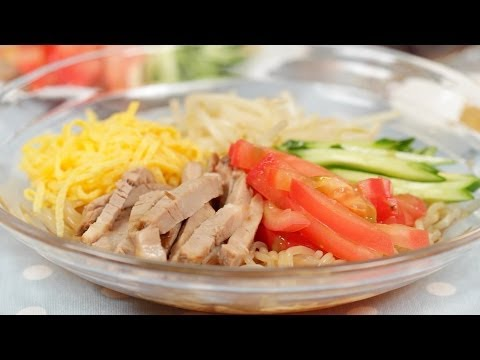 How to Make Low Calorie Hiyashi Chuka with Shirataki Noodles | Cooking with Dog