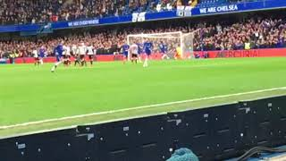 Chelsea SLOW MO GOAL - Marcos Alonso vs Newcastle with Celebration