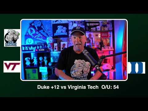 Duke vs Virginia Tech Free College Football Picks and Predictions CFB Tips Saturday 10/3/20