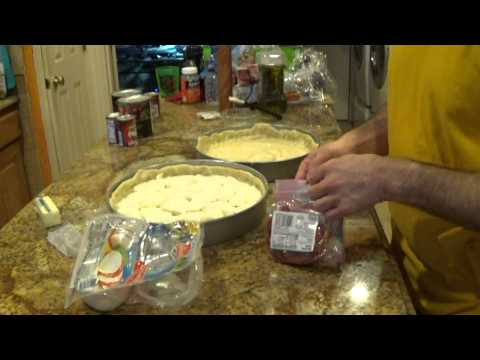How to make Chicago Style Deep Dish Pizza Part 2